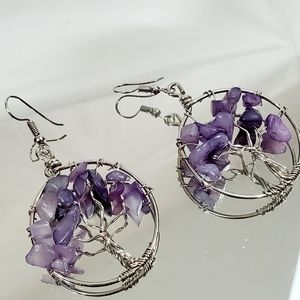 Jody Coyote Sterling Silver Dangle Earrings NWT